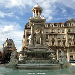 Fontaine des Jacobins in Lyon, Frankreich