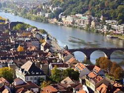 Heidelberg vom Schloss aus gesehen