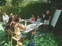 Sprachkurs im Freien in Antibes