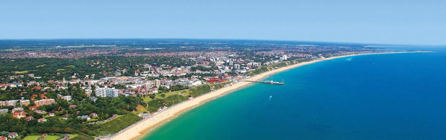 Blick über Bournemouth