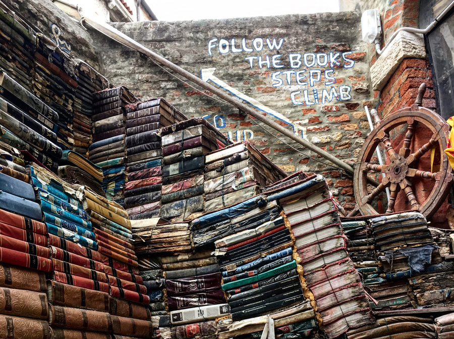 Libreria Acqua Alta, Venedig