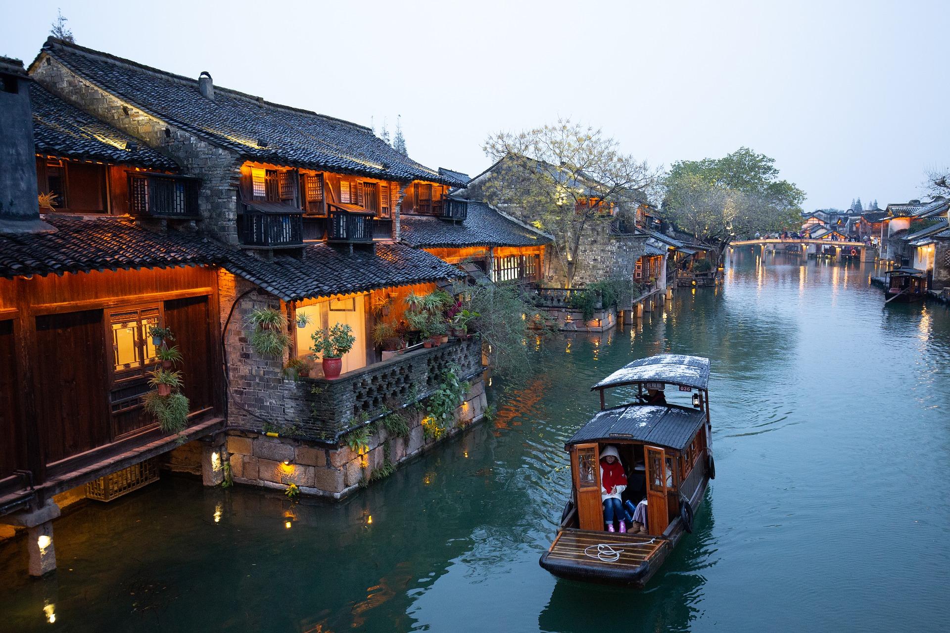 Wasserstadt bei Shanghai