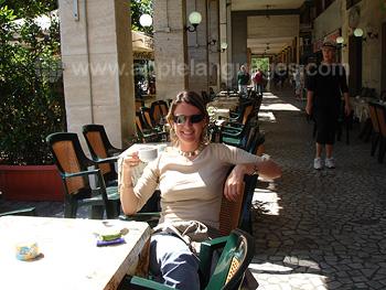 Italienischen Kaffee genießen