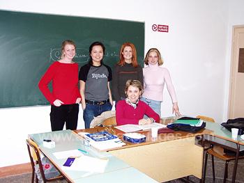 Schüler und Lehrer