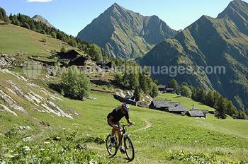 In Kitzbühel kann man ausgezeichnet Mountainbiken…