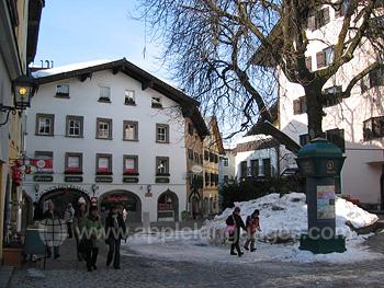 Das Stadtzentrum Kitzbühels