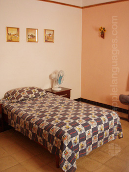 Student bedroom in host family