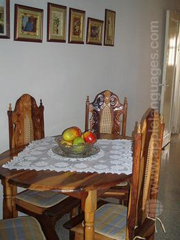 Dining room in host family
