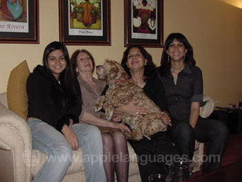 Host Family with Dog!