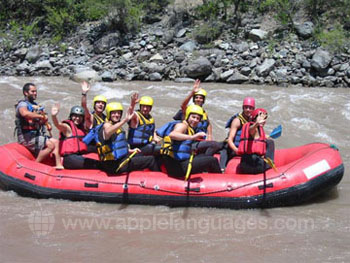 Students white-water rafting!
