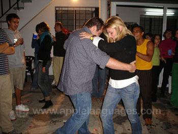 Tango dancing in the school