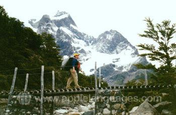 Exploring the beautiful mountain scenery