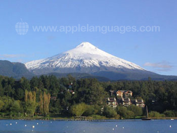 Amazing snow-capped volcanoes!
