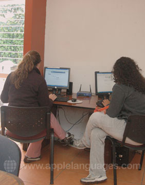 The school internet cafe