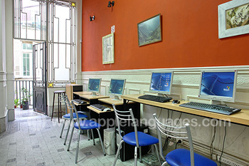 School internet cafe