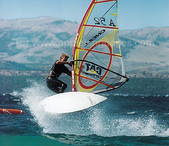Windsurfing on nearby lake