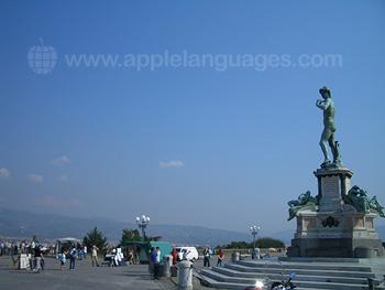 Piazzale Michelangelo, nur 5 Minuten von unserer Schule entfernt