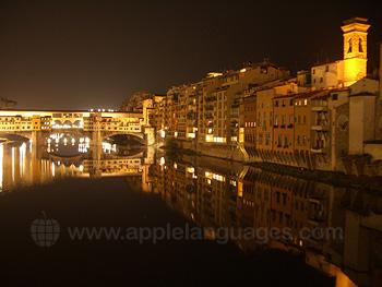 Der Ponte Vecchio bei Nacht!