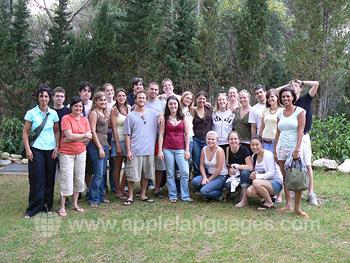 Schüler auf einem Ausflug rund um Florenz