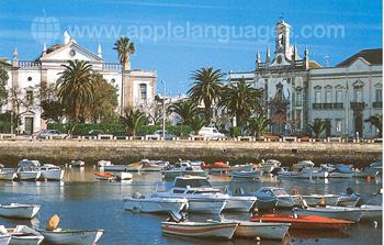 Faro vom Yachthafen aus