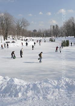Montréal-Park zur Winterzeit