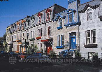 Typische Häuser in Montréal