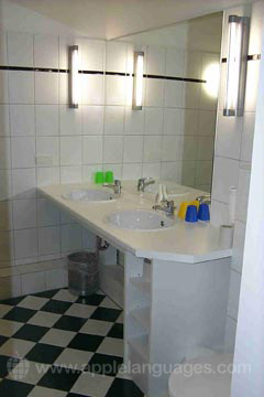 Badezimmer im Wohnheim