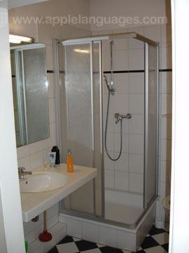 Dusche im Wohnheim der Schule
