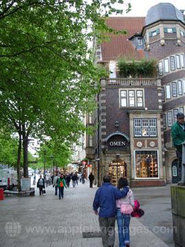 Typische Straße in Hamburg