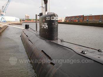 U-Boot im Hamburger Hafen