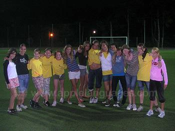 Evening football match