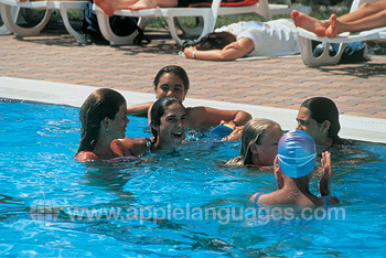 Fun in the school pool!