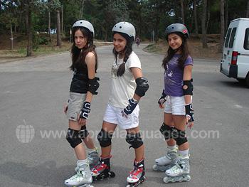 Rollerblading in school grounds