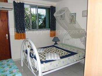 Schlafzimmer im Schülerapartment