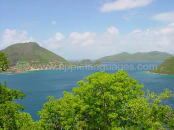 Blick auf Guadeloupe