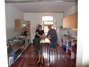 Küche im Wohnheim