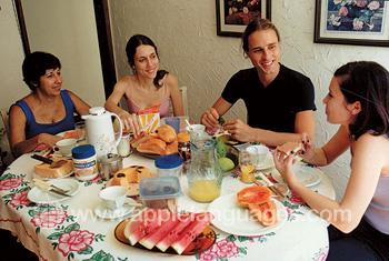 Schüler mit Gastfamilie