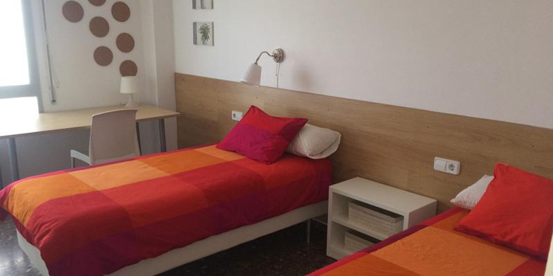 Schlafzimmer in einer Wohngemeinschaft
