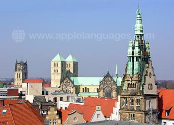 Die Skyline von Münster