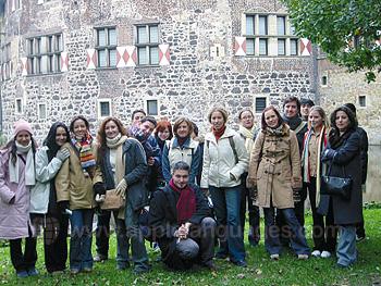 Schüler auf Exkursion