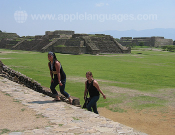 Exploring the nearby Zapoteca site