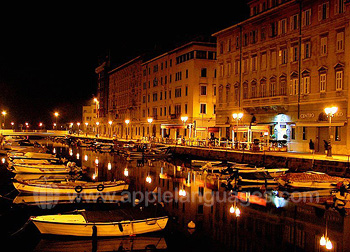 Night time in Trieste