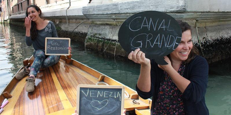 Erkunde die Kanäle von Venedig