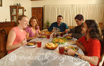 Costa Rican host family