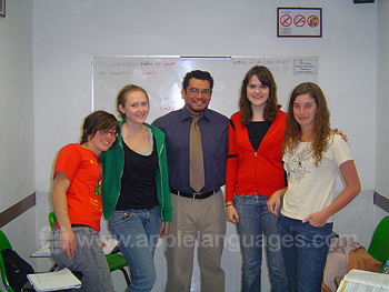 Students with one of our teachers
