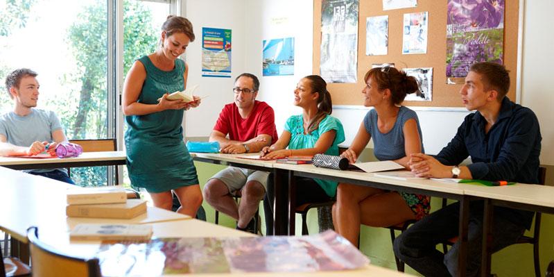 Während des Französisch Lernens