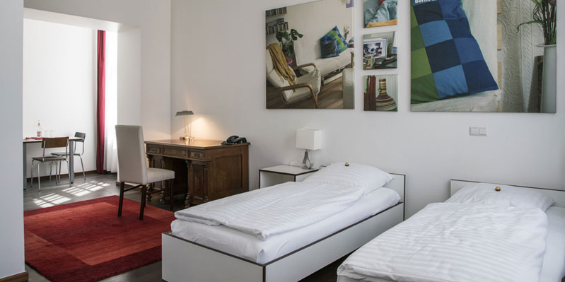 Doppelzimmer einer Unterkunft vor Ort