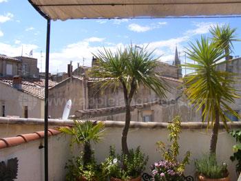 Blick von der Terrasse einer Gastfamilie