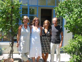 Schüler und Gastfamilie