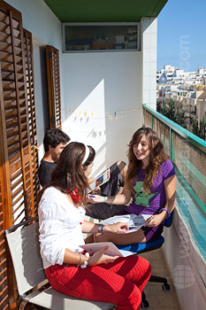 Balcony of the shared apartment